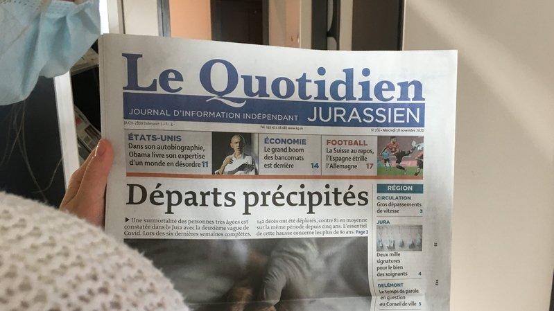 """""""Le Quotidien Jurassien"""", """"L'Ajoie"""", """"Le Franc-Montagnard"""", """"Canal Alpha"""" et """"RFJ"""" recevront bientôt une aide de la part du canton du Jura."""