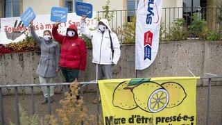 Coronavirus: colère du personnel de santé autour des conditions de travail, manifs à travers la Suisse