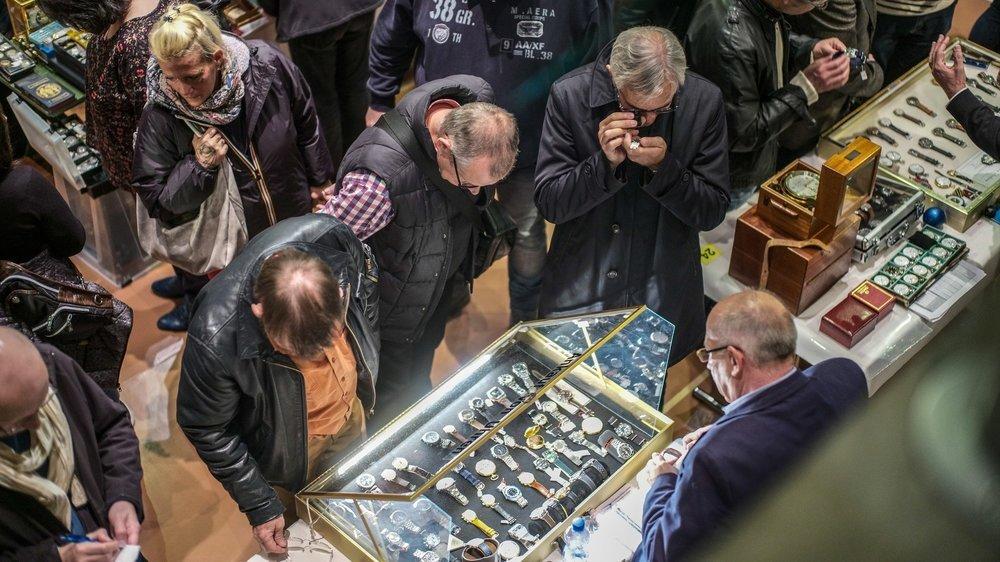 Bourse horlogère au Musée international d'horlogerie de La Chaux-de-Fonds, en novembre 2018.
