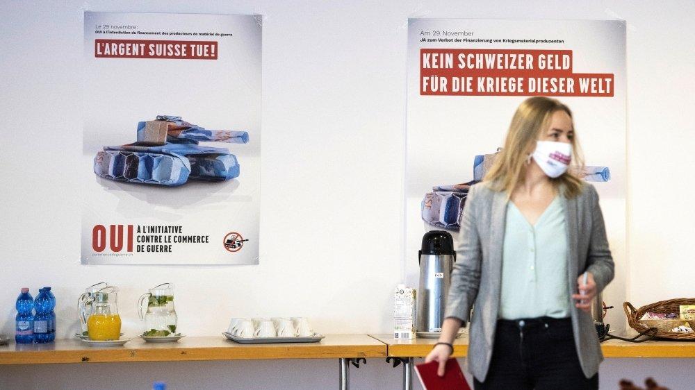 La campagne pour l'initiative contre le financement des fabricants d'armes n'aura pas mobilisé autant que l'autre objet.