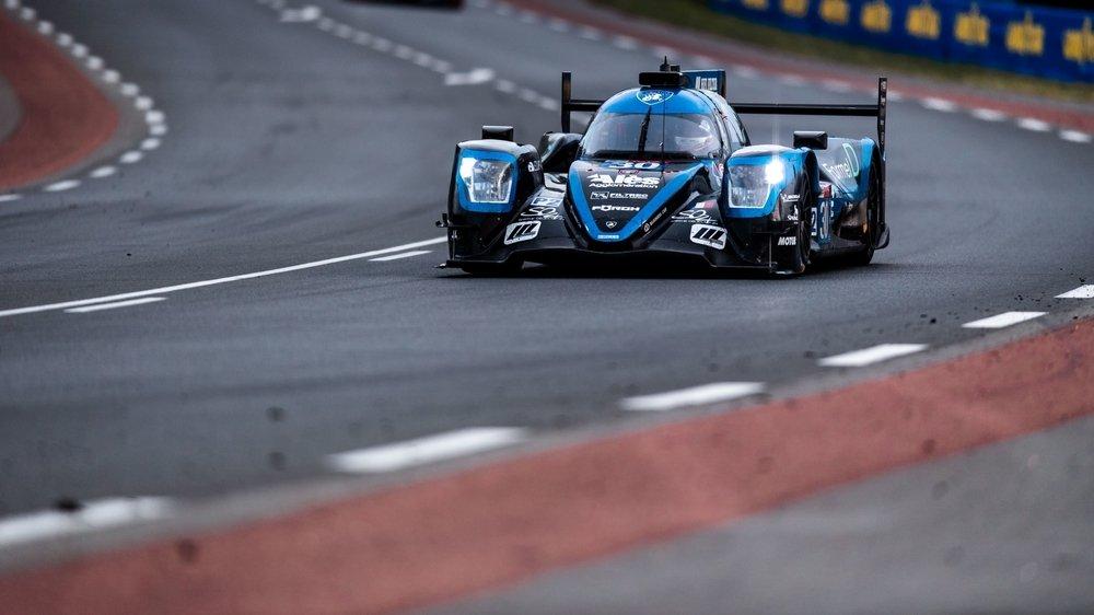 Jonathan Hirschi sur les routes des 24 Heures du Mans.