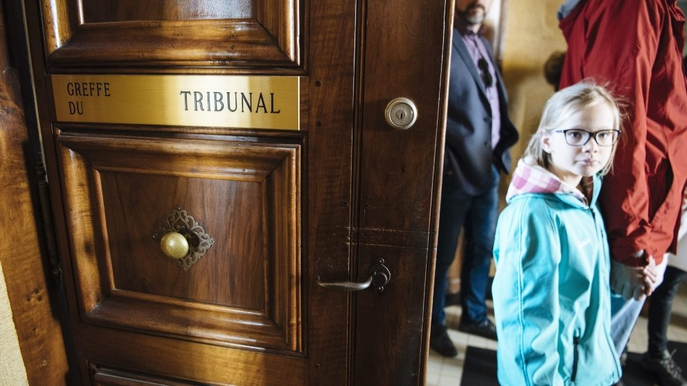 Lors des portes ouvertes du pouvoir judiciaire, en mars 2017 à Neuchâtel.