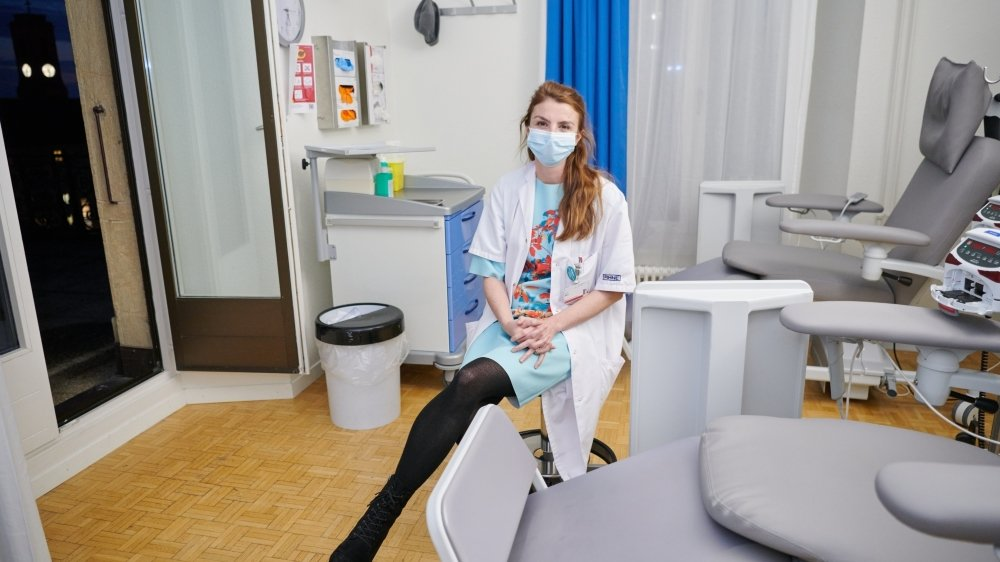 La doctoresse Alix Stern, cheffe du département d'oncologie du RHNE.