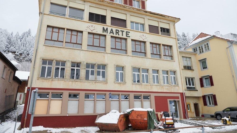 Le futur cabinet médical s'installera au premier étage de l'ancienne usine La Martel, actuellement en rénovation, aux Ponts-de-Martel.