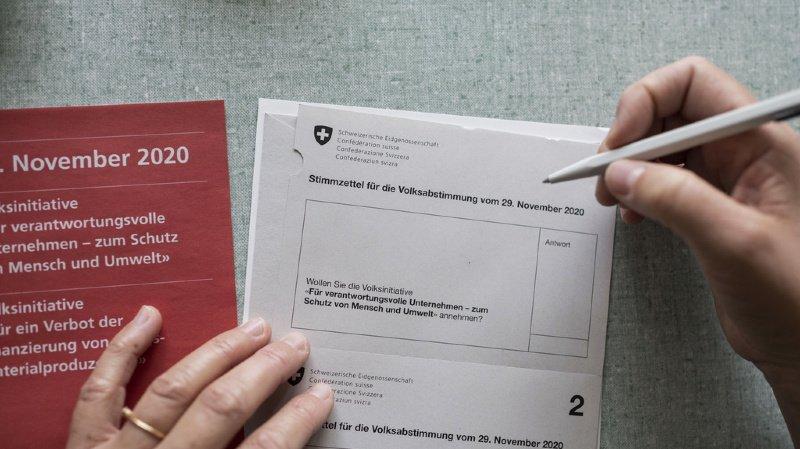 Votations fédérales: l'initiative sur les entreprises responsables rejetée malgré le oui du peuple