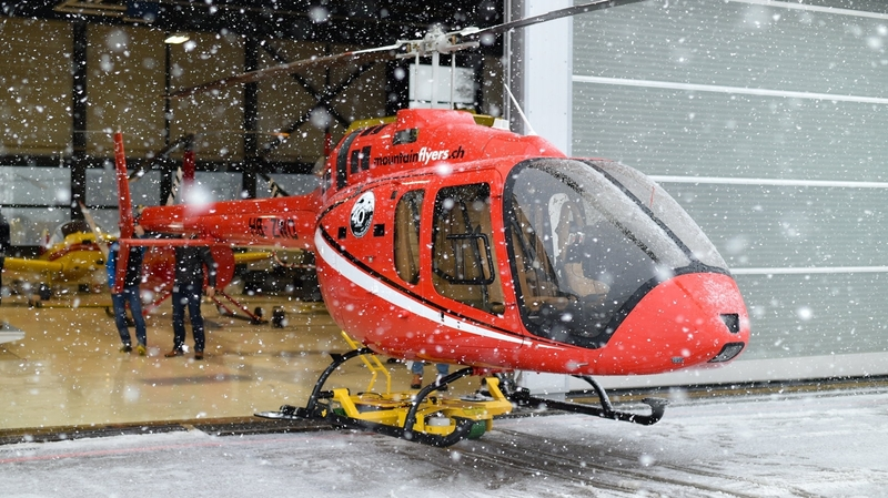La Chaux-de-Fonds: un nouvel hélicoptère à l'aéroport des Eplatures