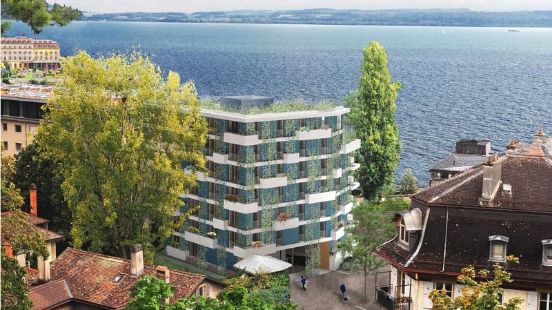 Neuchâtel: un nouvel immeuble face à la baie de l'Evole