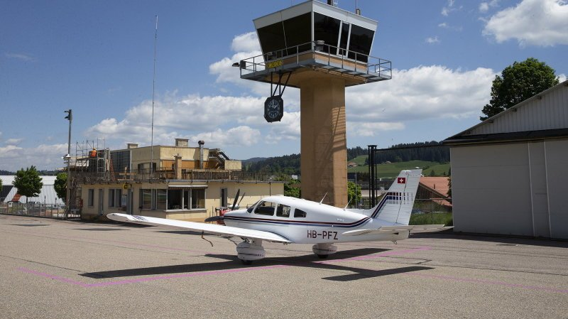L'aéroport des Eplatures, photographié en mai de cette année.