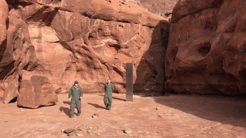 Etats-Unis: disparition du mystérieux «monolithe» de métal découvert dans l'Utah