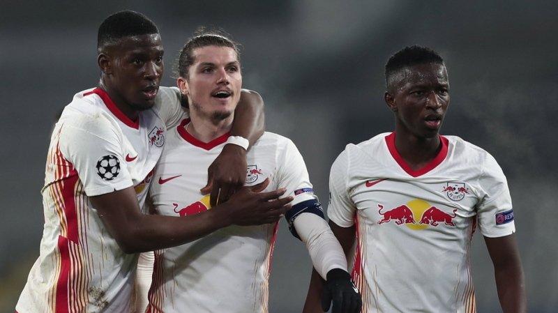 Les joueurs de Leipzig ont vécu un match bien animé.