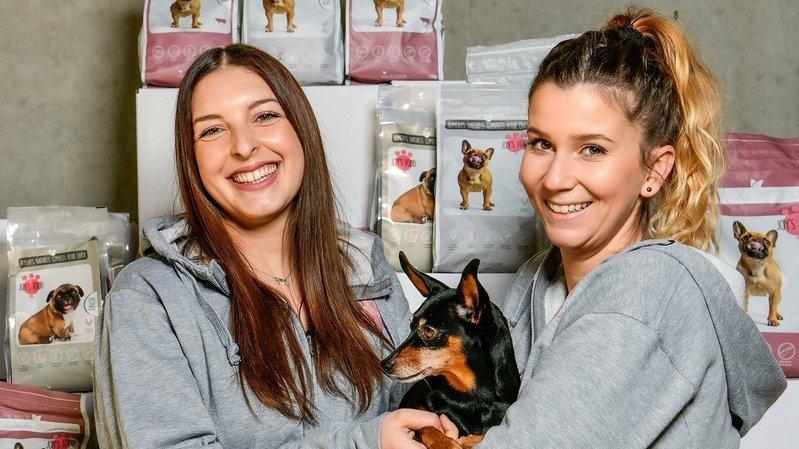 A Boveresse, elles construisent leur entreprise de croquettes pour chiens