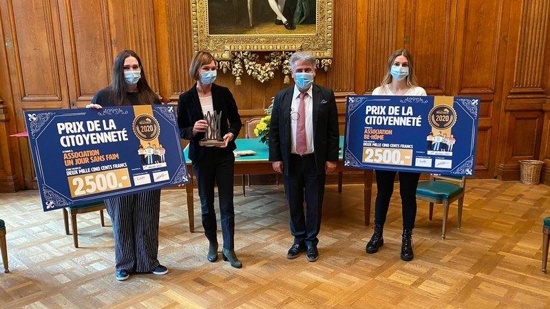 La Ville de Neuchâtel a décerné son Prix de la citoyenneté 2020 à deux associations