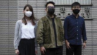 Hong Kong:  peines d'emprisonnement pour Joshua Wong et deux célèbres militants pro démocratie