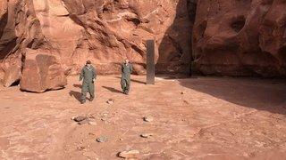 Découverte d'un étrange monolithe dans le désert de l'Utah