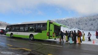Aux sports d'hiver en transports publics, partout dans le canton de Neuchâtel