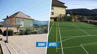 Cure de jouvence pour le terrain de sport de La Côte-aux-Fées