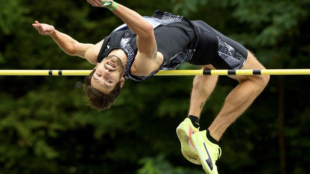 Loïc Gasch, sauteur en hauteur de l'US Yverdon.
