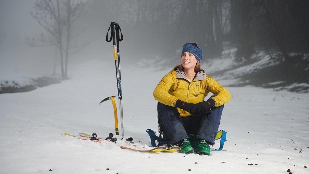 Christelle Marceau, la première femme neuchâteloise à obtenir son brevet fédéral de guide de montagne.