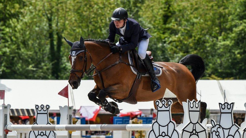 """Bryan Balsiger, ici sur """"Babylone des Erables CH"""", s'est illustré sur plusieurs chevaux cette année."""