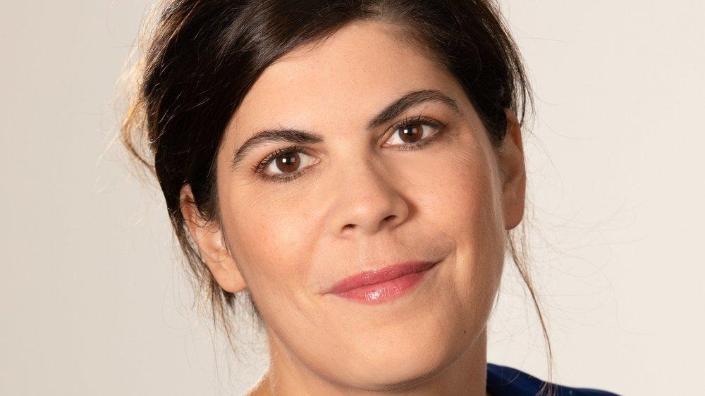 """Christine Gonzalez, animatrice de """"Question Q"""", sur la RTS."""