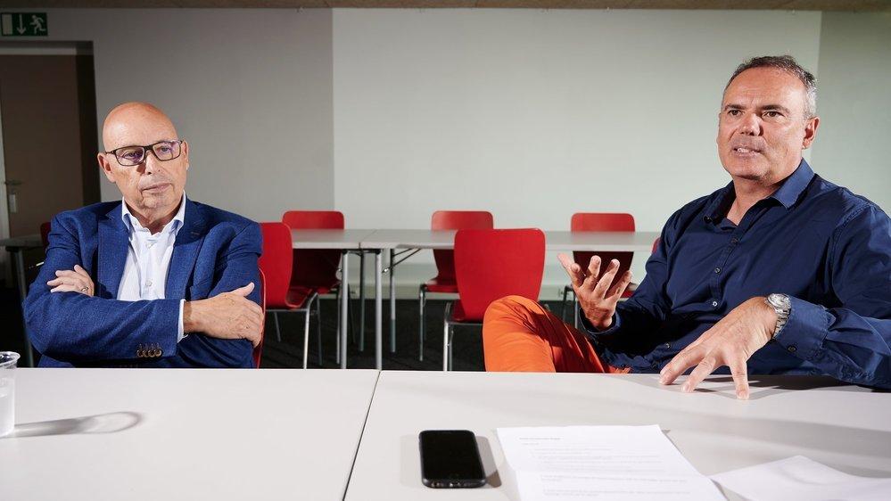 Passage de témoin entre Christian Binggeli (à gauche) et Jean-François Collet.