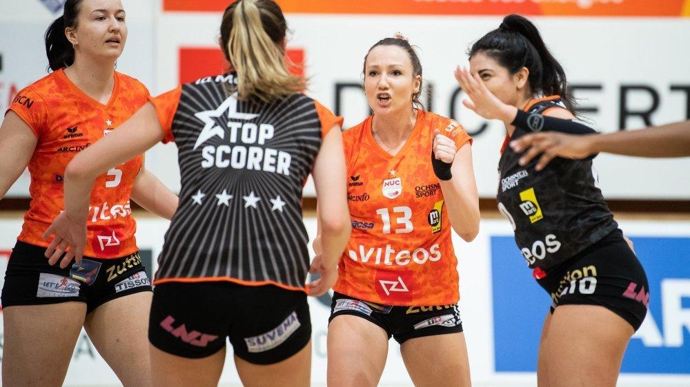 Les joueuses du NUC ont vite retrouvé le chemin de la victoire après leur défaite contre Aesch-Pfeffingen.