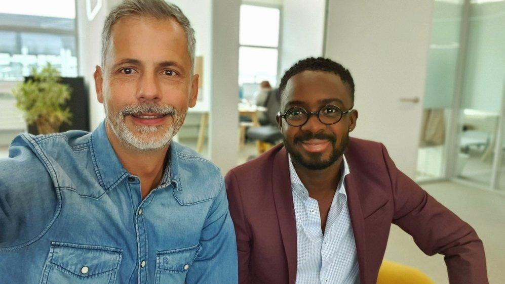 Patrick Spozio (à g.) et Franck Souomy, cofondateurs de easy2go.ch.