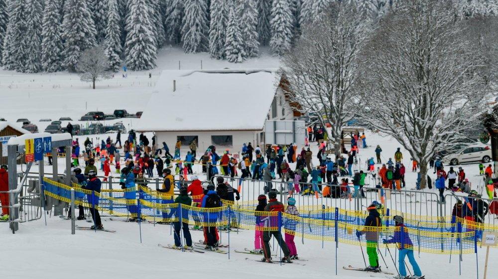 On skie aux Bugnenets-Savagnières, le 1er janvier 2021.