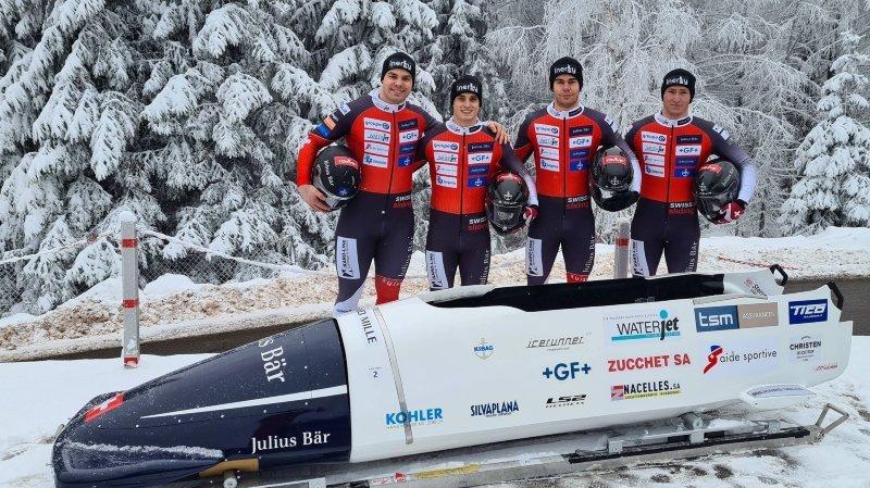 Yann Moulinier, Julien Mattys, Quentin Juillard et Mathieu Hersperger(de gauche à droite) à Altenberg.