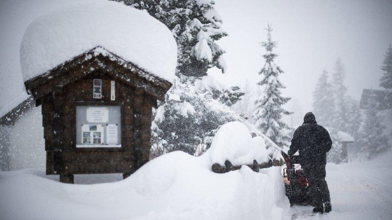Météo: plus d'un mètre et demi de neige fraîche est tombé en montagne