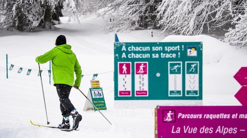 Sports d'hiver: pistes de ski de fond abîmées à cause de l'afflux de marcheurs