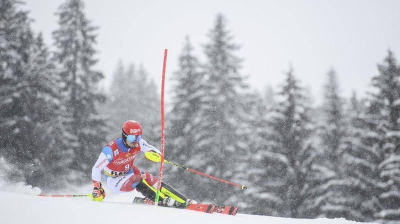 Ski alpin: Loïc Meillard manque de peu le podium lors du second slalom de Flachau