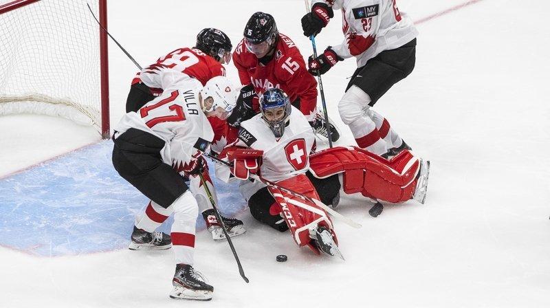 Hockey sur glace: la Suisse balayée 10-0 par le Canada