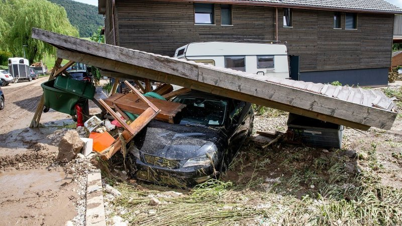 Intempéries à Val-de-Ruz: répartir les dons en faveur des sinistrés est plus long que prévu