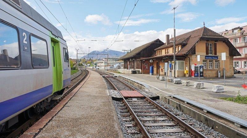 La gare de Corcelles-Peseux ne sera plus desservie pendant quelques nuits.