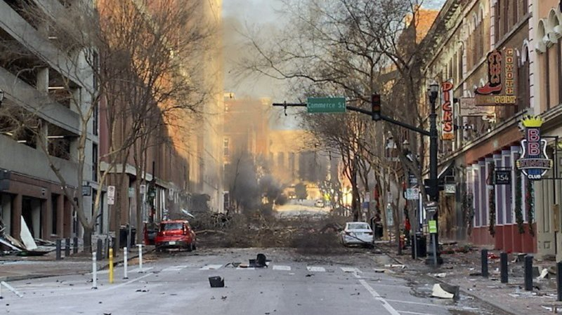 La déflagration, qui a eu lieu vendredi à 06h30, a dévasté une partie d'une artère commerçante dans le centre historique de la capitale de la musique country (archives).