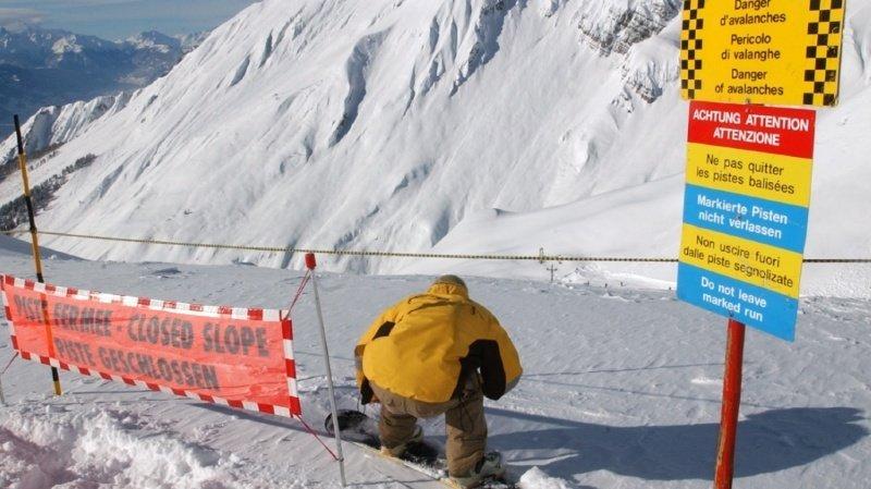 Attention, danger d'avalanche: dix personnes ont été ensevelies en un jour en Valais
