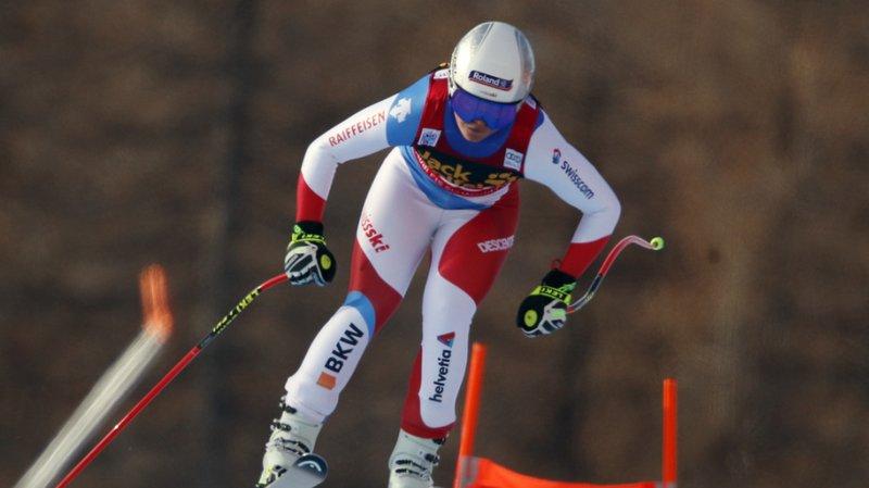 Ski alpin: Corinne Suter deuxième de la descente de Val d'Isère derrière Sofia Goggia