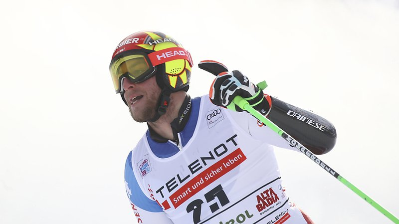 Ski alpin: Justin Murisier troisième au géant d'Alta Badia, Marco Odermatt 4e