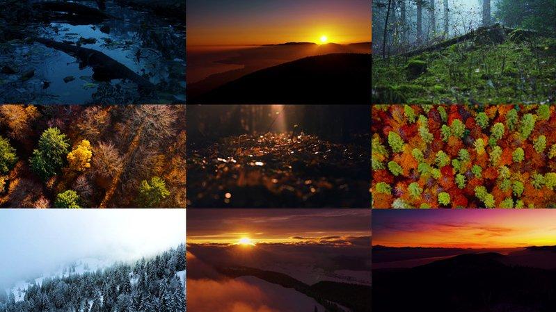 L'artiste neuchâtelois a choisi les plus beaux paysages du canton pour illustrer son nouveau titre.