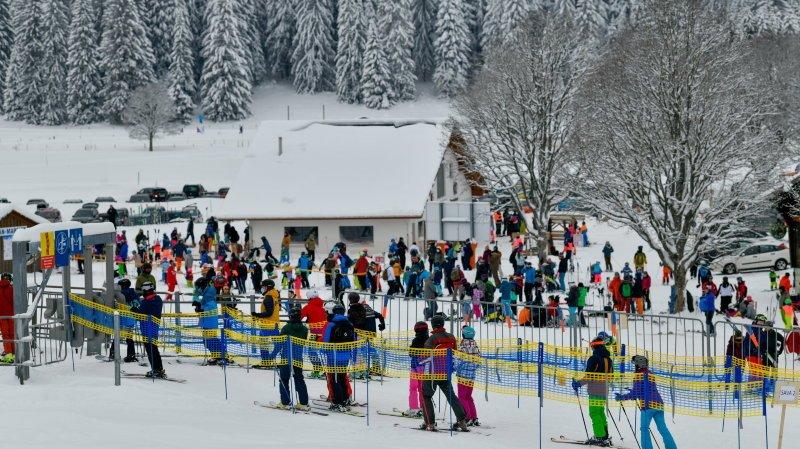 Nouvel An: les Neuchâtelois ont foncé sur les pistes de ski