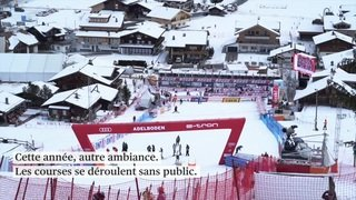 Ski alpin: des encouragements sur écran géant à Adelboden
