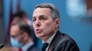 Conseil fédéral: Ignazio Cassis va devoir jouer les équilibristes en 2021 après une année transparente