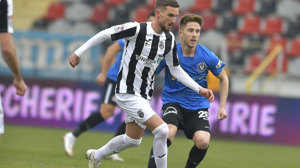 Sébastien Wüthrich, ici en action face au FC Viitorul Constanta (1-1), sous les couleurs de l'Astra Giurgiu, le dimanche 31 janvier 2021.