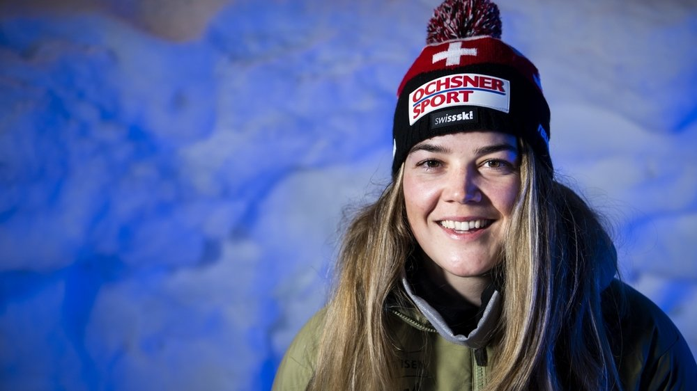 Mélanie Meillard est arrivée dimanche à Cortina. Elle participera au slalom samedi.