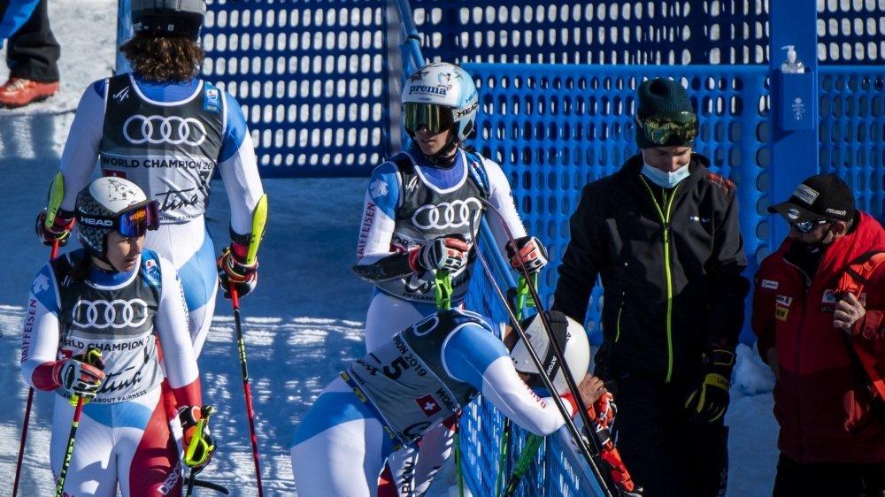Pas de médaille pour l'équipe suisse sur le parallèle par équipes mercredi à Cortina.