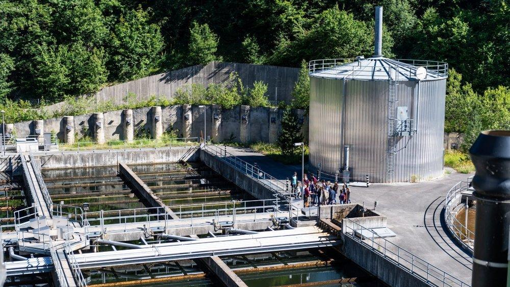 La station d'épuration des eaux de La Chaux-de-Fonds. Archives: Lucas Vuitel