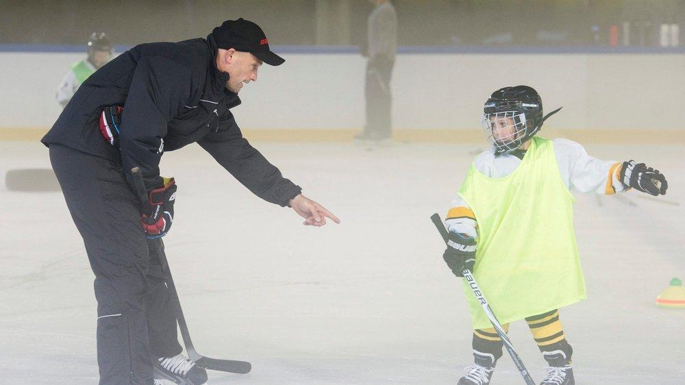 Sandy Jeannin apprécie de pouvoir continuer à entraîner les plus jeunes à Fleurier.