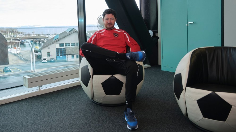 Andrea Binotto a déjà bien pris ses marques du côté de la Maladière. Le football occupe désormais toutes ses pensées.