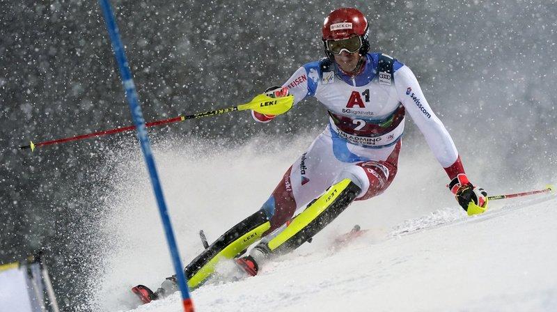 Ski alpin – slalom nocturne de Schladming: Zenhäusern 4e provisoire, les autres Suisses à la peine